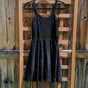 Free People Black Lace Fit & Flare dress